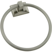 CHELSEA TOWEL RING-Satin Nickel