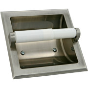 CHELSEA/DUNHILL RECESSED HOLDER-Satin Nickel