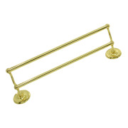 STRATFORD DOUBLE TOWEL BAR SET-Polished Brass