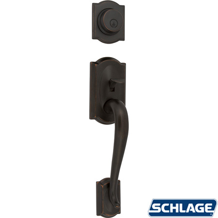 Camelot Active Handleset Aged Bronze By Schlage Unhinge