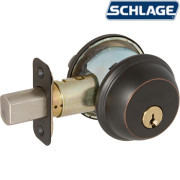 ONE SIDE KEYED DEADBOLT-Aged Bronze