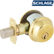ONE SIDE KEYED DEADBOLT-Bright Brass