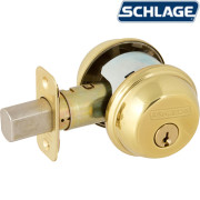 TWO SIDES KEYED DEADBOLT-Bright Brass