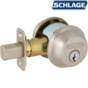 TWO SIDES KEYED DEADBOLT-Satin Nickel