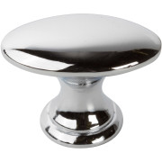 Decorative Oblong Knob CHROME