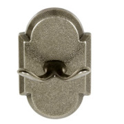 SANDCAST ROBE HOOK CV-Aged Pewter