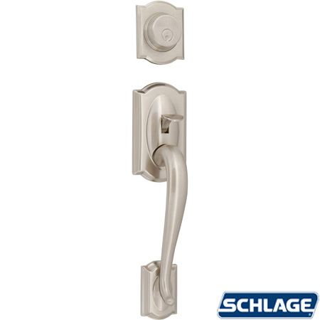 Camelot Dummy Handleset Satin Nickel By Schlage Unhinge