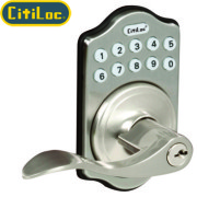 KEYPAD LEVER-Satin Nickel