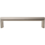 Contemporary Half-Round Footed Bar Pull NICKEL